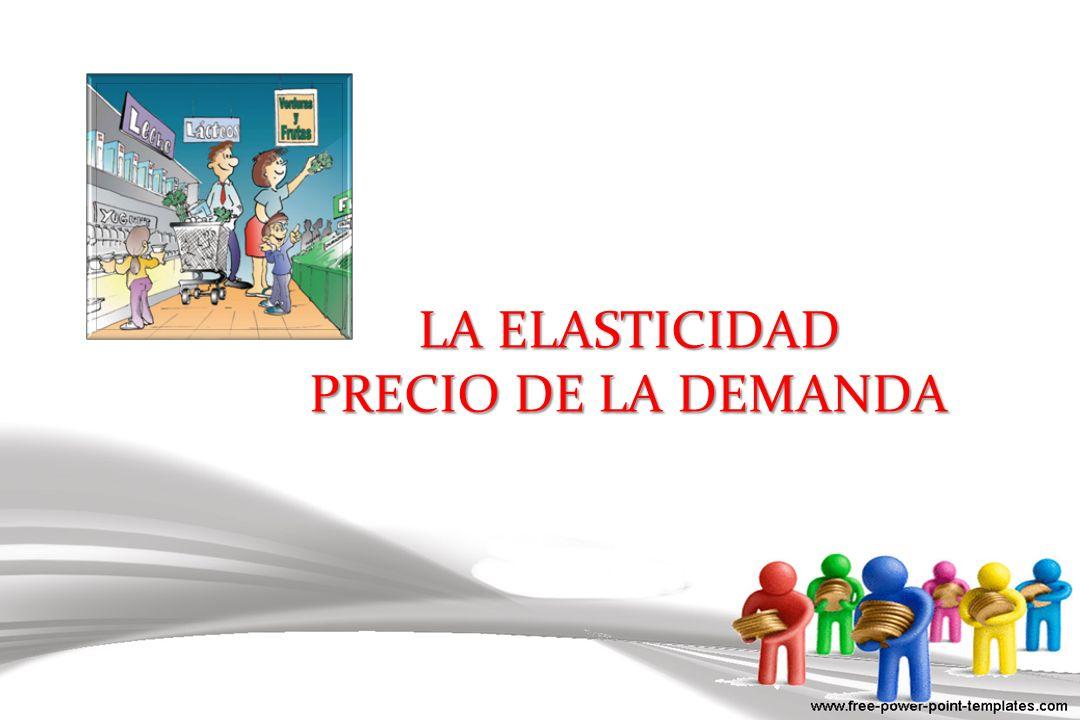 DEMANDA ELÁSTICA ELASTICIDAD > 1 Cantidad Precio 4 $5 1.