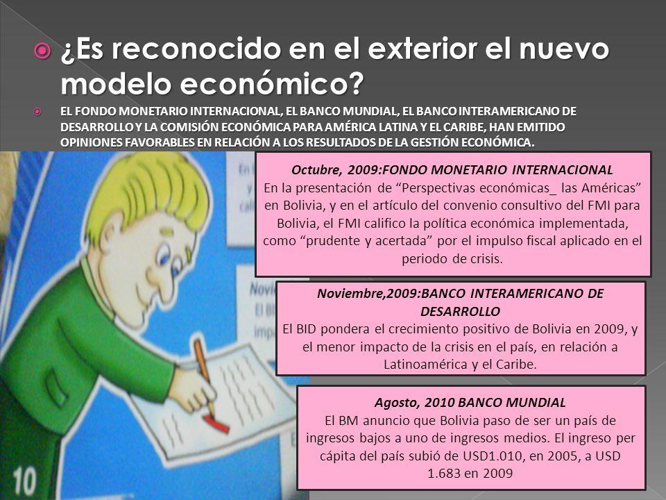 ¿ Es reconocido en el exterior el nuevo modelo económico? ¿ Es reconocido en el exterior el nuevo modelo económico? EL FONDO MONETARIO INTERNACIONAL,