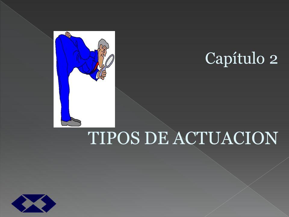 Capítulo 2 TIPOS DE ACTUACION