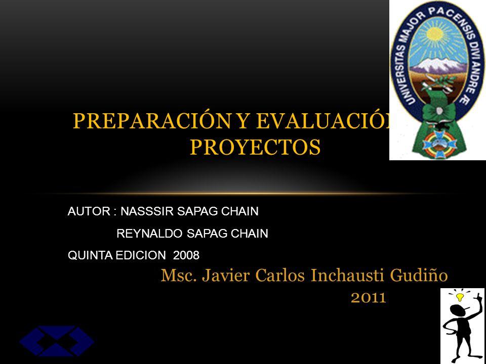 PREPARACIÓN Y EVALUACIÓN DE PROYECTOS Msc.