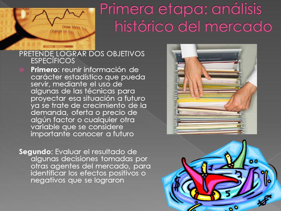PRETENDE LOGRAR DOS OBJETIVOS ESPECÍFICOS Primero : reunir información de carácter estadístico que pueda servir, mediante el uso de algunas de las téc