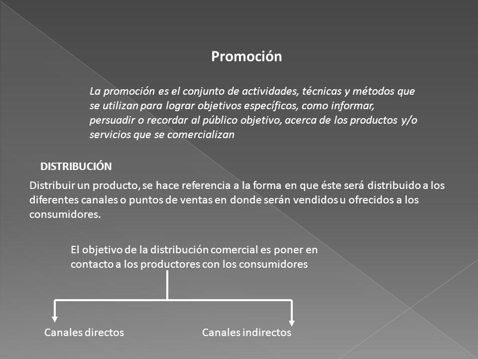 Promoción La promoción es el conjunto de actividades, técnicas y métodos que se utilizan para lograr objetivos específicos, como informar, persuadir o