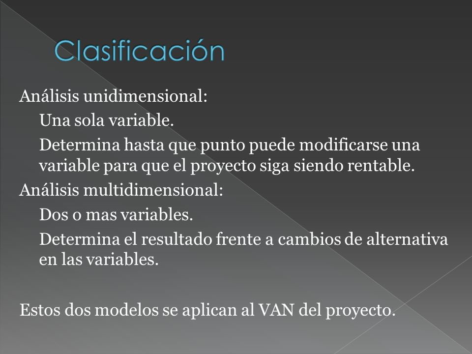 Análisis unidimensional: Una sola variable.
