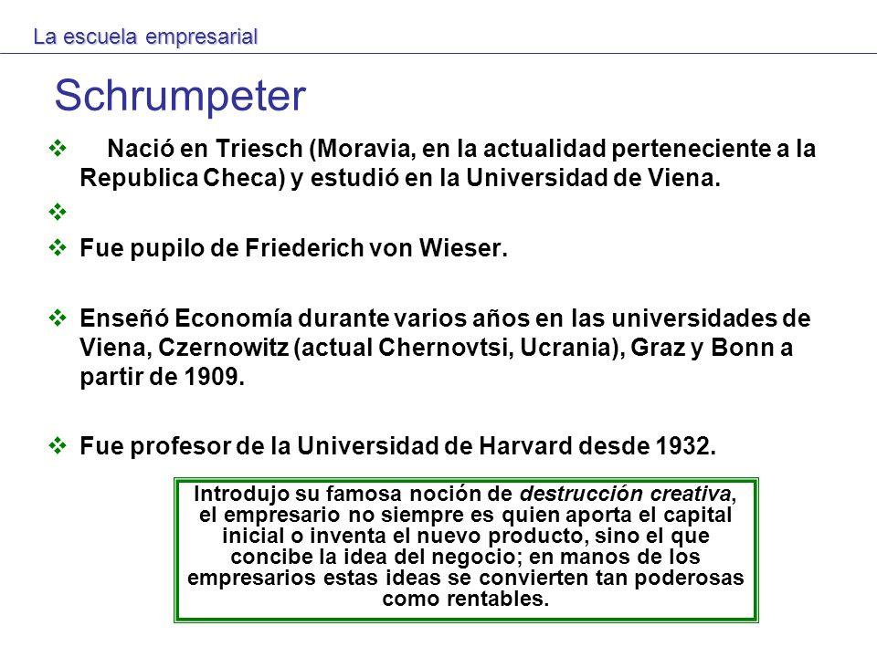 Schrumpeter Nació en Triesch (Moravia, en la actualidad perteneciente a la Republica Checa) y estudió en la Universidad de Viena. Fue pupilo de Friede