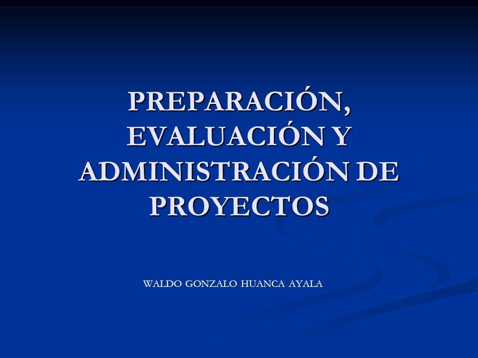 PREPARACIÓN, EVALUACIÓN Y ADMINISTRACIÓN DE PROYECTOS WALDO GONZALO HUANCA AYALA