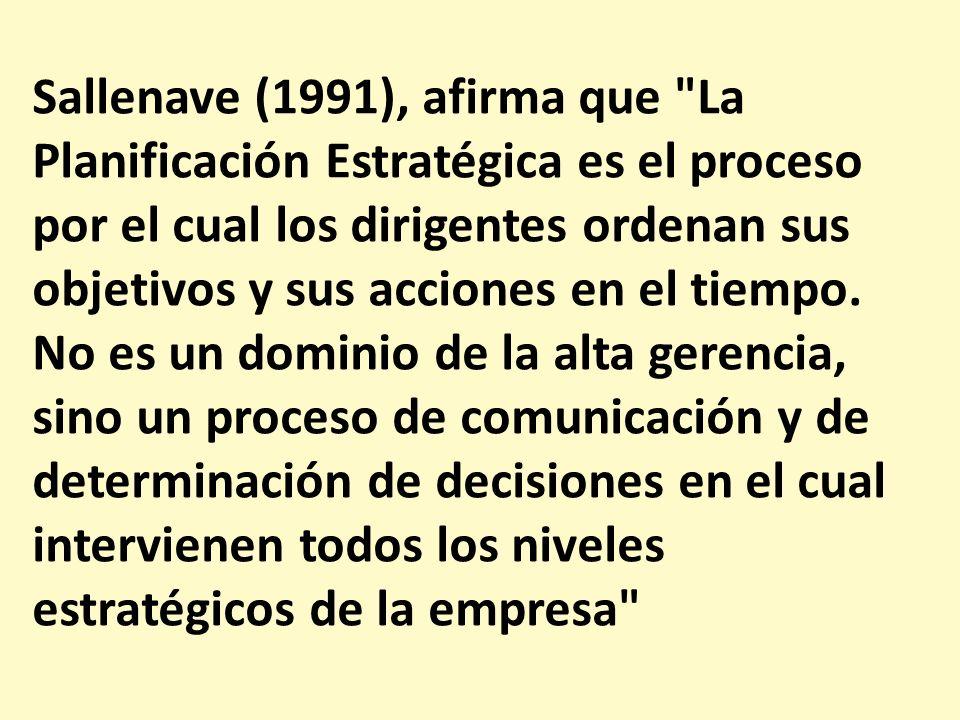 Sallenave (1991), afirma que