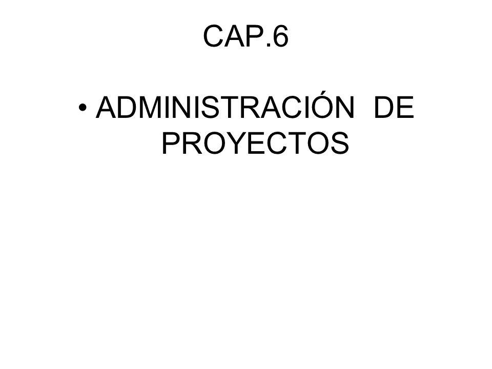 CAP.6 ADMINISTRACIÓN DE PROYECTOS
