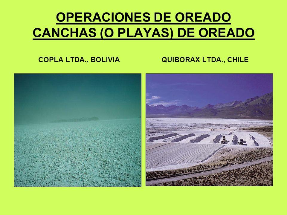 OPERACIONES DE OREADO CANCHAS (O PLAYAS) DE OREADO COPLA LTDA., BOLIVIA QUIBORAX LTDA., CHILE