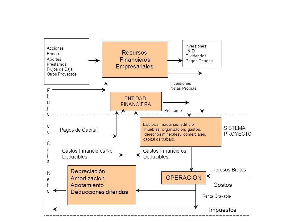 Acciones Bonos Aportes Préstamos Flujos de Caja Otros Proyectos Recursos Financieros Empresariales Inversiones I & D Dividendos Pagos Deudas ENTIDAD F