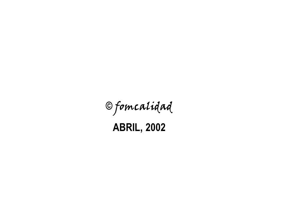 © fomcalidad ABRIL, 2002