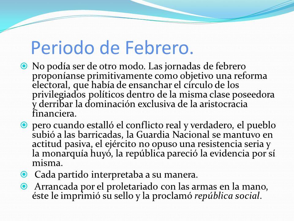 Segundo período, período de la constitución, de la fundación de la república burguesa.