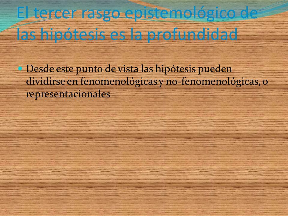 Hipótesis no-observacionales son las que contienen conceptos no observacionales, ya sea variables intervinientes Los conceptos no-observacionales ordi
