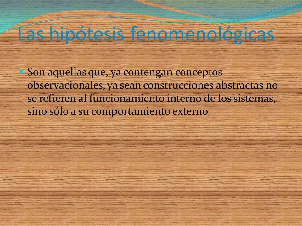 El tercer rasgo epistemológico de las hipótesis es la profundidad Desde este punto de vista las hipótesis pueden dividirse en fenomenológicas y no-fen