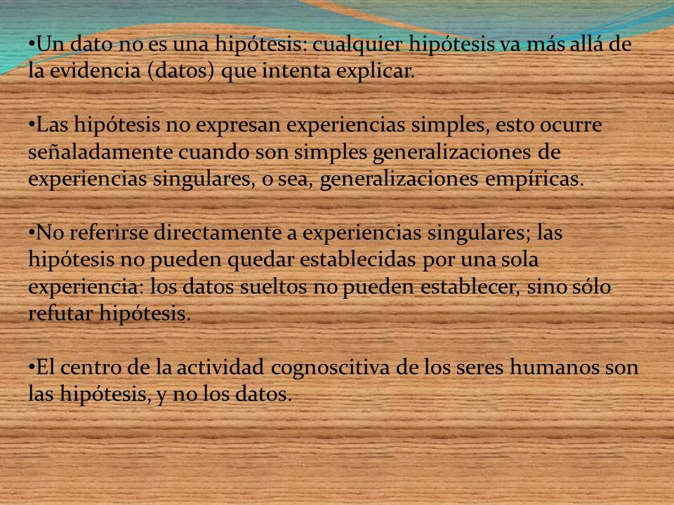 Es posible clasificar las hipótesis científicas desde varios puntos de vista: la forma (clasificación sintáctica), la referencia (semántica) y el estatus cognitivo (epistemológica).