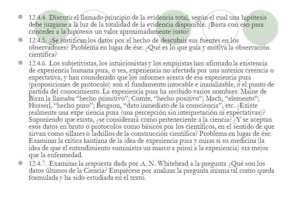 PROBLEMAS 12.4.1. Informar acerca del artículo de W. H. ITTEL50N y F. B. K Experiments in Perception. Problema en lugar de ése: Examinar la influencia