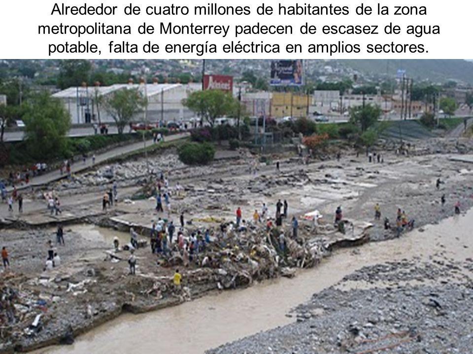 Alrededor de cuatro millones de habitantes de la zona metropolitana de Monterrey padecen de escasez de agua potable, falta de energía eléctrica en amp