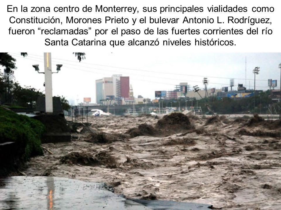 En la zona centro de Monterrey, sus principales vialidades como Constitución, Morones Prieto y el bulevar Antonio L. Rodríguez, fueron reclamadas por