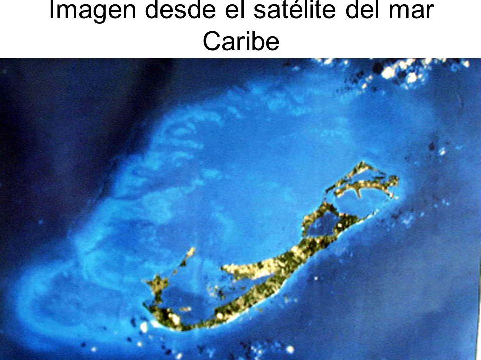 Imagen desde el satélite del mar Caribe