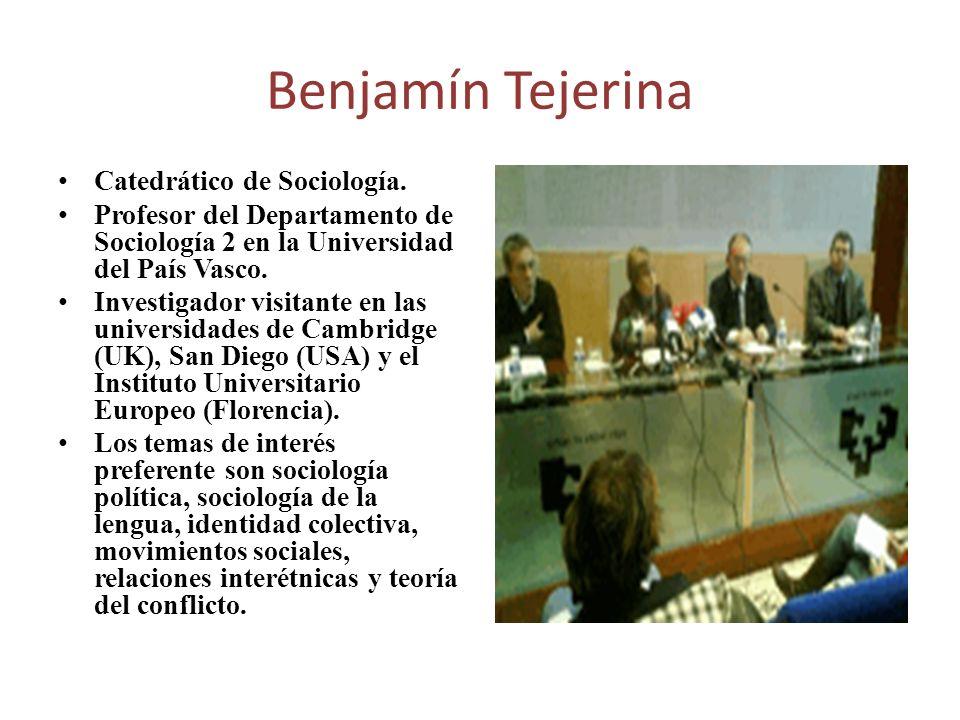 Catedrático de Sociología. Profesor del Departamento de Sociología 2 en la Universidad del País Vasco. Investigador visitante en las universidades de