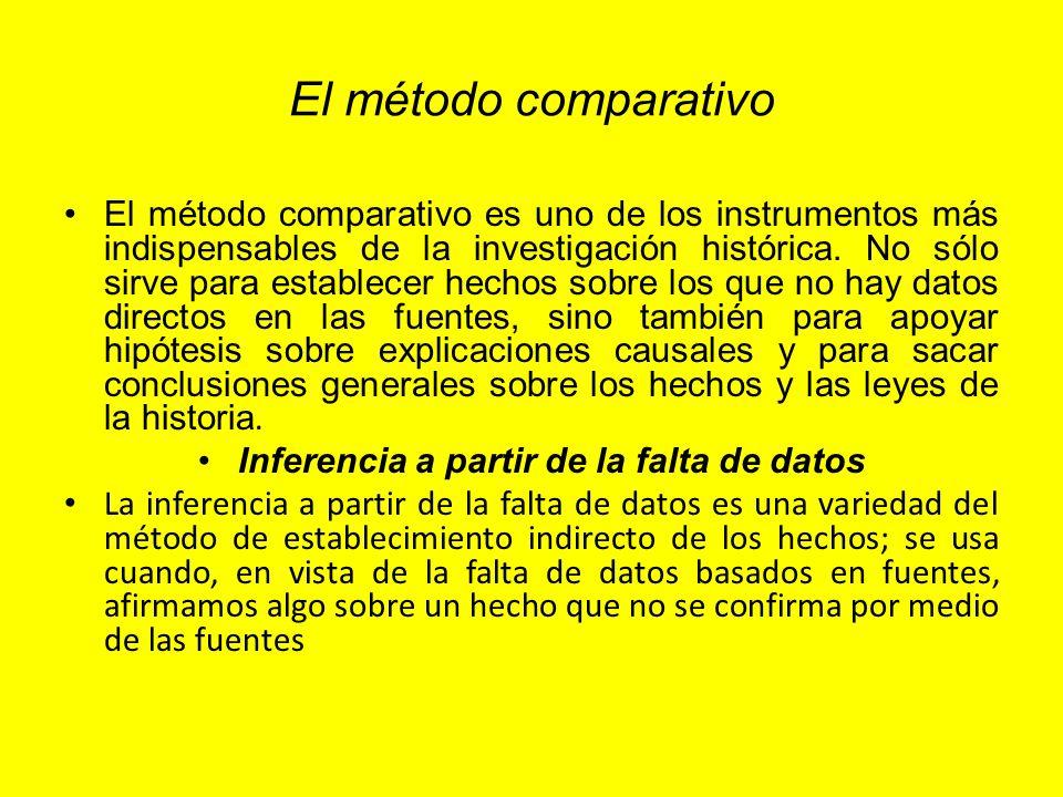 El método comparativo El método comparativo es uno de los instrumentos más indispensables de la investigación histórica. No sólo sirve para establecer