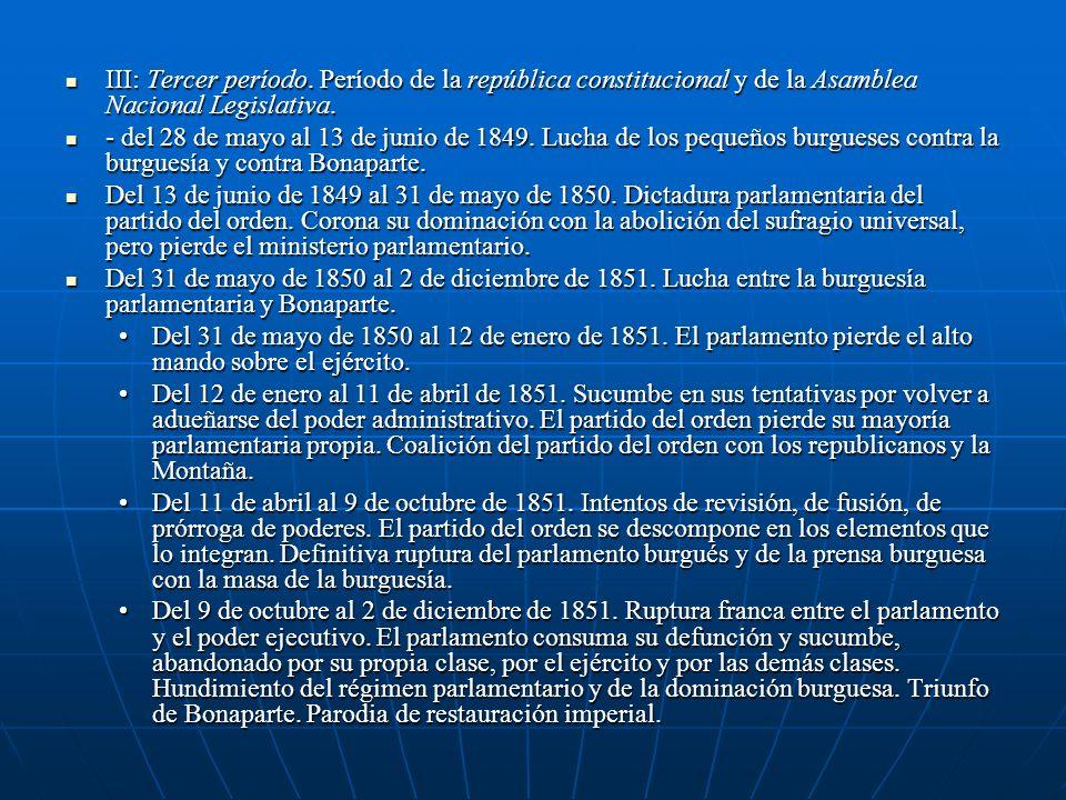 III: Tercer período. Período de la república constitucional y de la Asamblea Nacional Legislativa. III: Tercer período. Período de la república consti