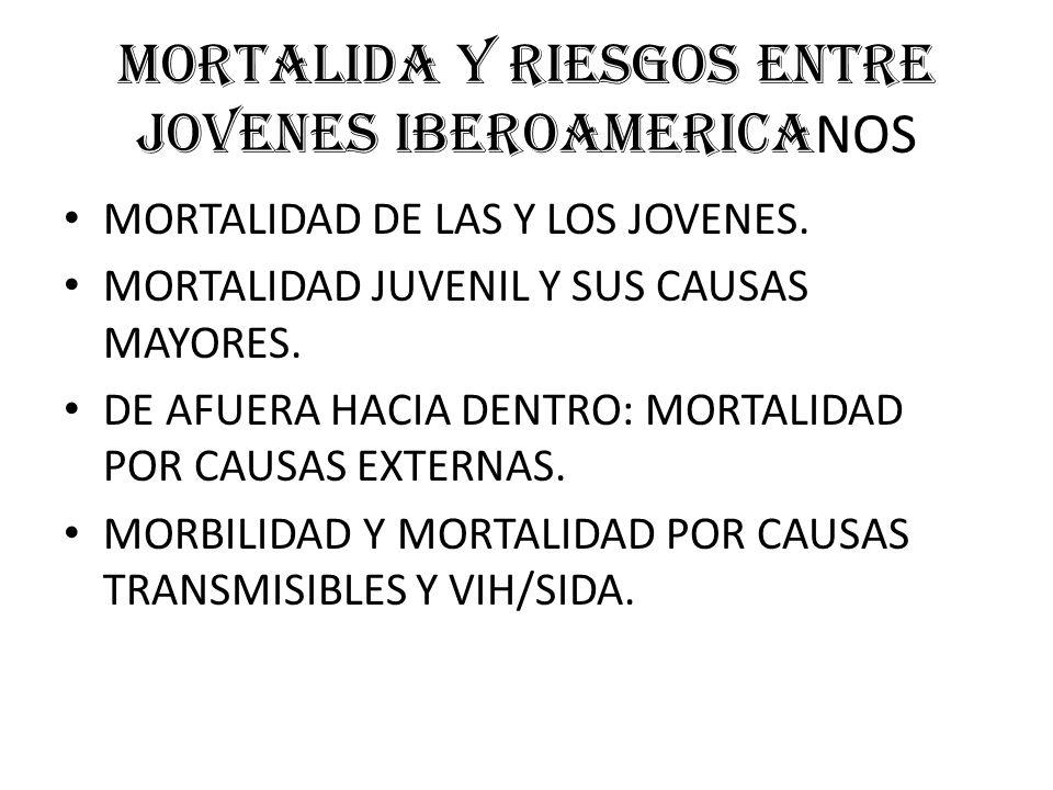 MORTALIDA Y RIESGOS ENTRE JOVENES IBEROAMERICA NOS MORTALIDAD DE LAS Y LOS JOVENES.