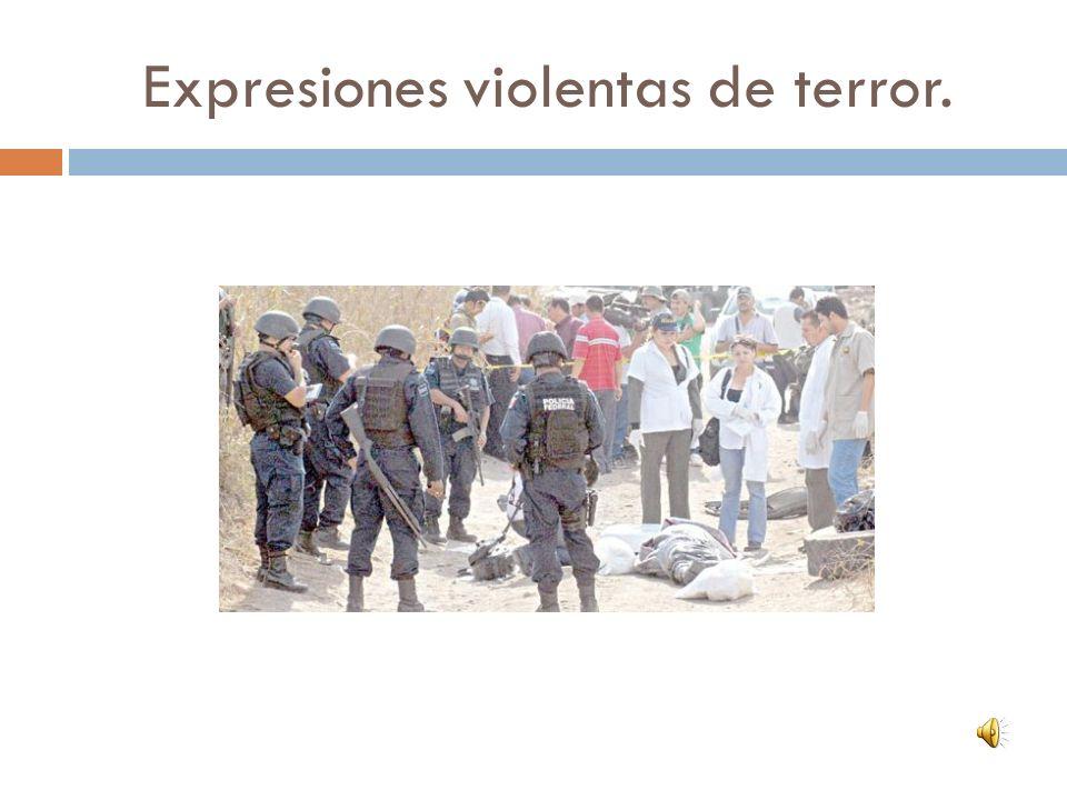 Expresiones violentas de terror.