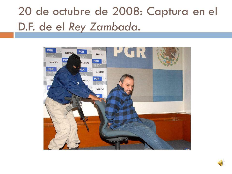 20 de octubre de 2008. Bayardo del Villar es aprehendido junto con otros funcionarios públicos.