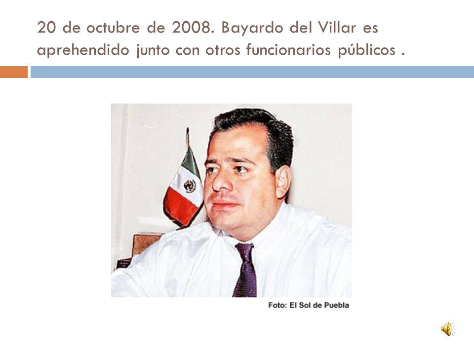 1 de diciembre de 2009: Bayardo del Villar es ejecutado en la Ciudad de México.