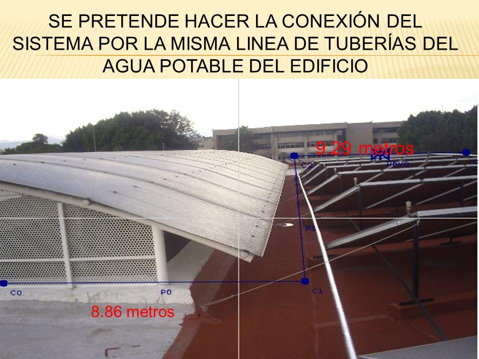 8.85 metros 20.2 metros VISTA LATERAL DEL DOMO DEL EDIFICIO EN EL QUE SE COLOCARÁ LA CANALETA UNIDA CON TUBO PVC CON LA OTRA CANALETA