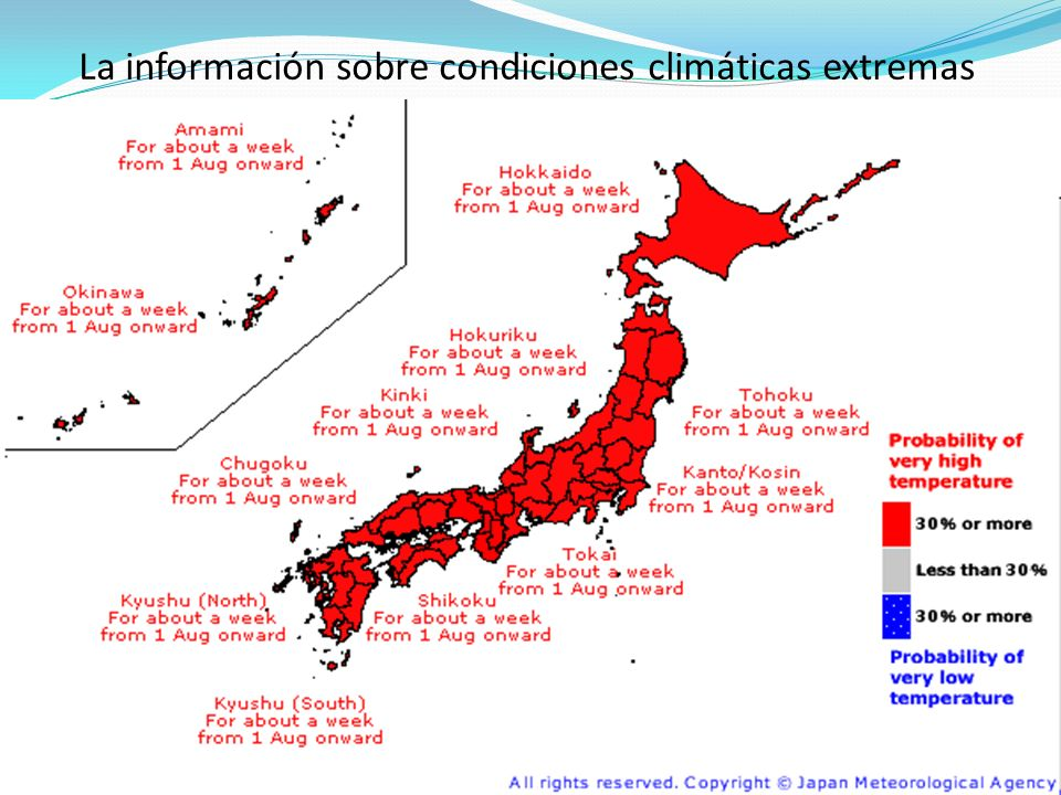 La información sobre condiciones climáticas extremas
