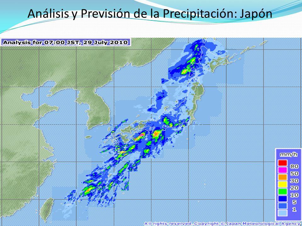 Análisis y Previsión de la Precipitación: Japón