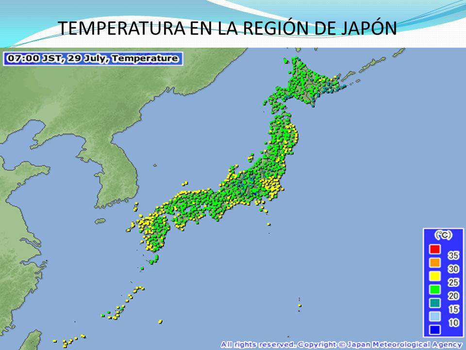 TEMPERATURA EN LA REGIÓN DE JAPÓN