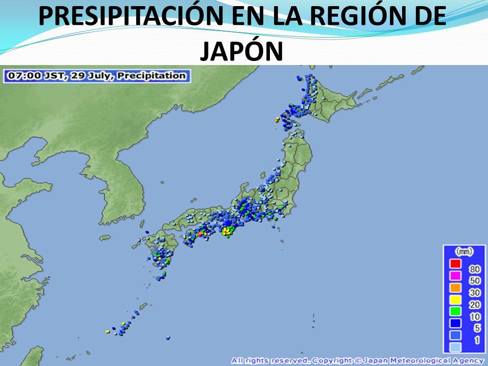 PRESIPITACIÓN EN LA REGIÓN DE JAPÓN