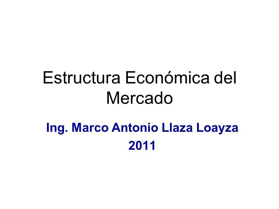 Estructura Económica del Mercado Ing. Marco Antonio Llaza Loayza 2011