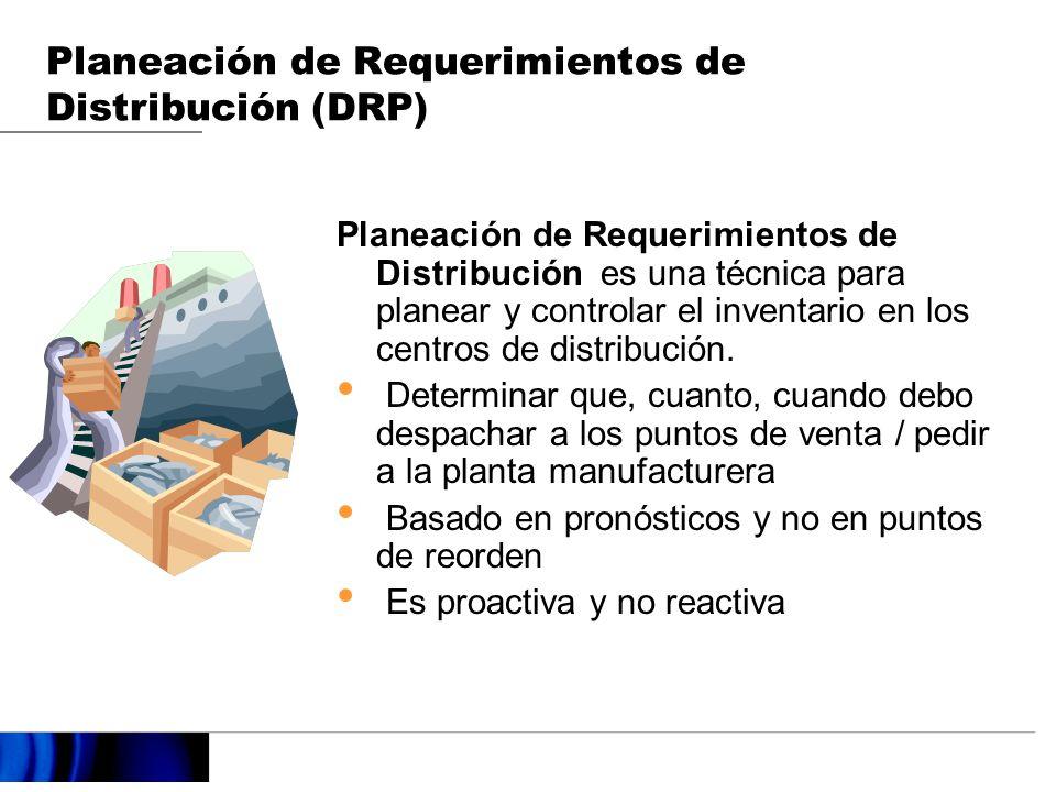 Planeación de Requerimientos de Distribución es una técnica para planear y controlar el inventario en los centros de distribución.