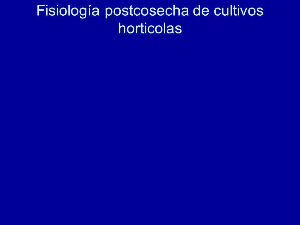 Fisiología postcosecha de cultivos horticolas