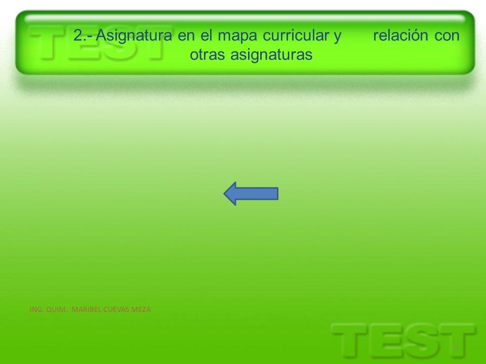 2.- Asignatura en el mapa curricular y relación con otras asignaturas 4