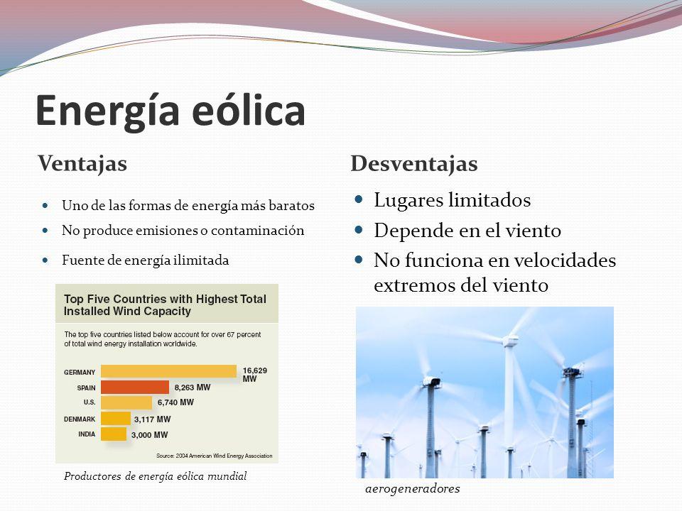 Energía hidráulica Usa el movimiento del agua El agua gira una turbina.