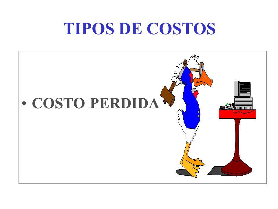 TIPOS DE COSTOS COSTO PERDIDA