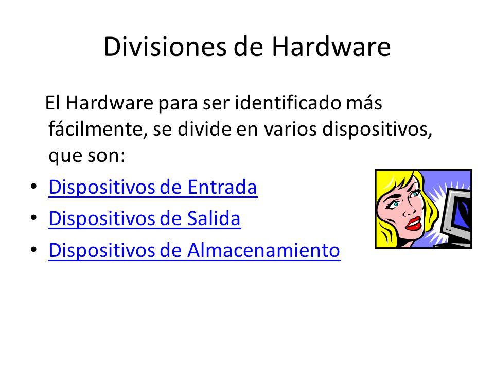 HARDWARE Física Lógica SOFTWARE En conjunto son indispensables para el funcionamiento del computador.