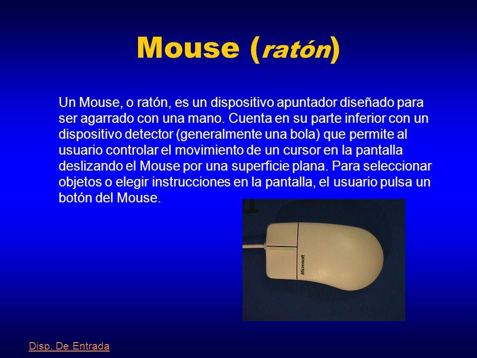 Lápiz Óptico Un lápiz óptico es un puntero con un extremo fotosensible que se emplea para dibujar directamente sobre la pantalla, o para seleccionar i