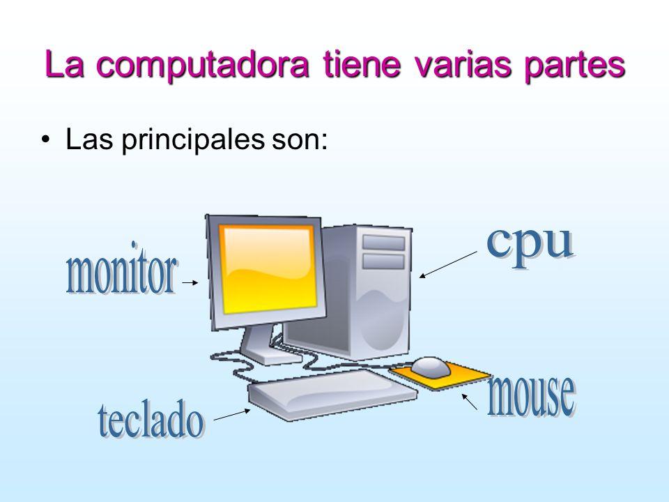 La computadora tiene varias partes Las principales son: