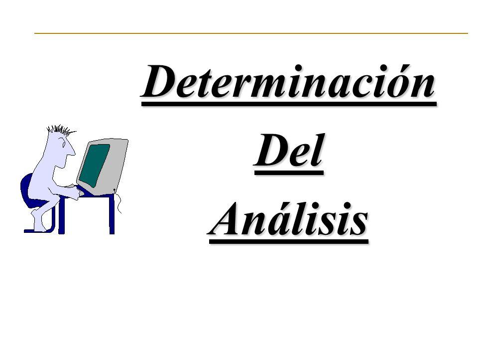 DeterminaciónDelAnálisis