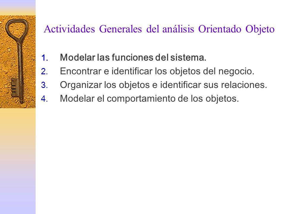 Actividades Generales delAnálisis Orientado Objeto 1.