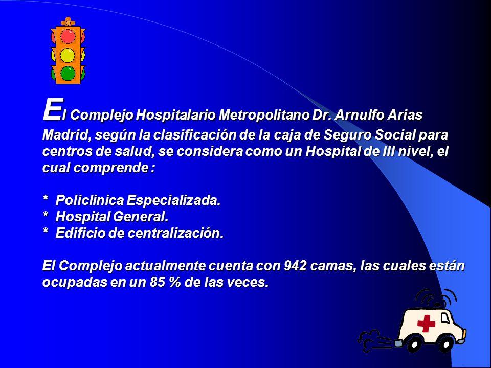 E l Complejo Hospitalario Metropolitano Dr. Arnulfo Arias Madrid, según la clasificación de la caja de Seguro Social para centros de salud, se conside