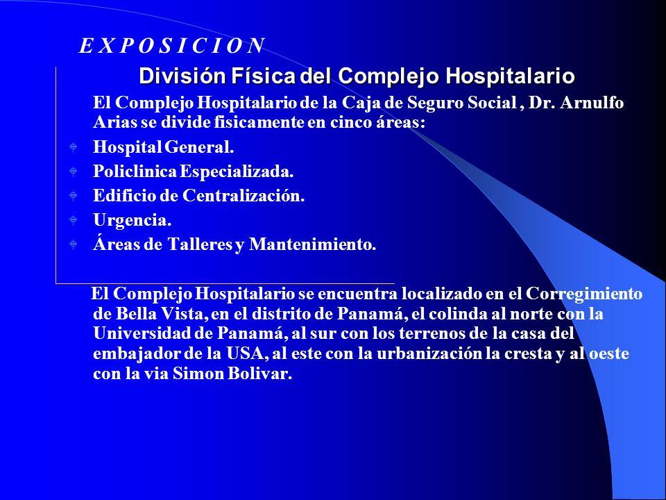 División Física del Complejo Hospitalario División Física del Complejo Hospitalario El Complejo Hospitalario de la Caja de Seguro Social, Dr. Arnulfo