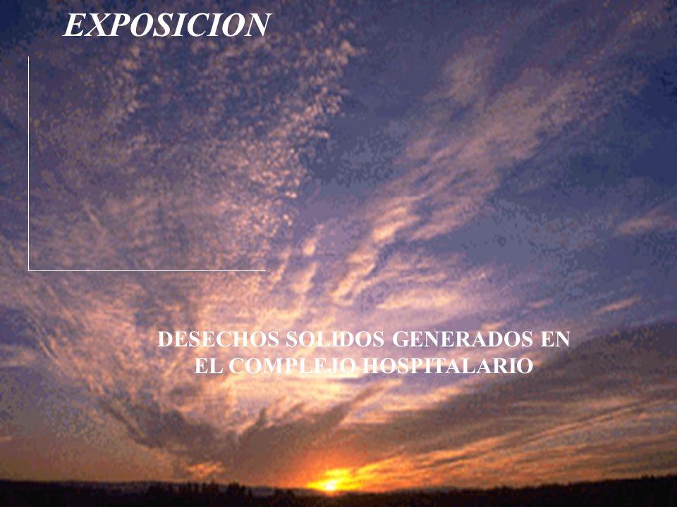 EXPOSICION DESECHOS SOLIDOS GENERADOS EN EL COMPLEJO HOSPITALARIO