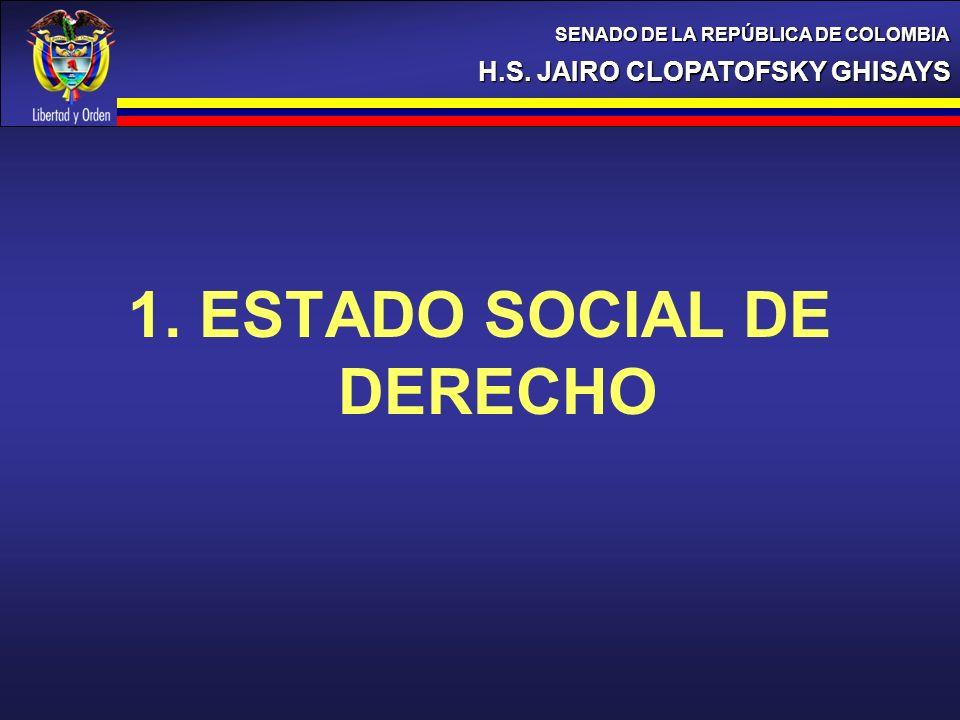 CONCLUSIONES H.S. JAIRO CLOPATOFSKY GHISAYS SENADO DE LA REPÚBLICA DE COLOMBIA