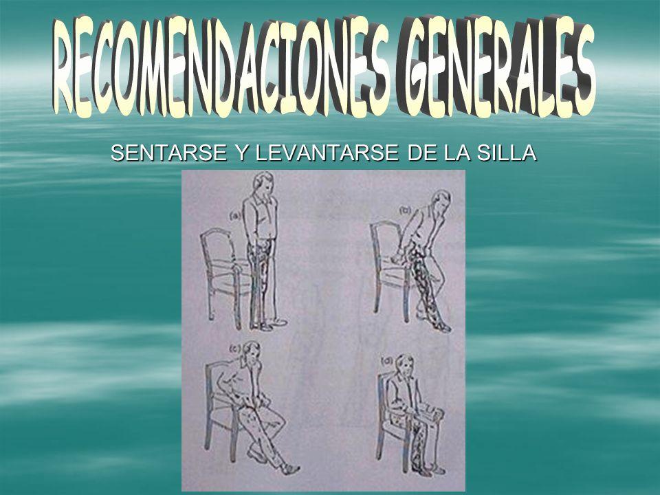 SENTARSE Y LEVANTARSE DE LA SILLA